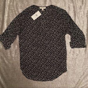 NWT Chaus 3/4 Sleeve Polka Dot blouse